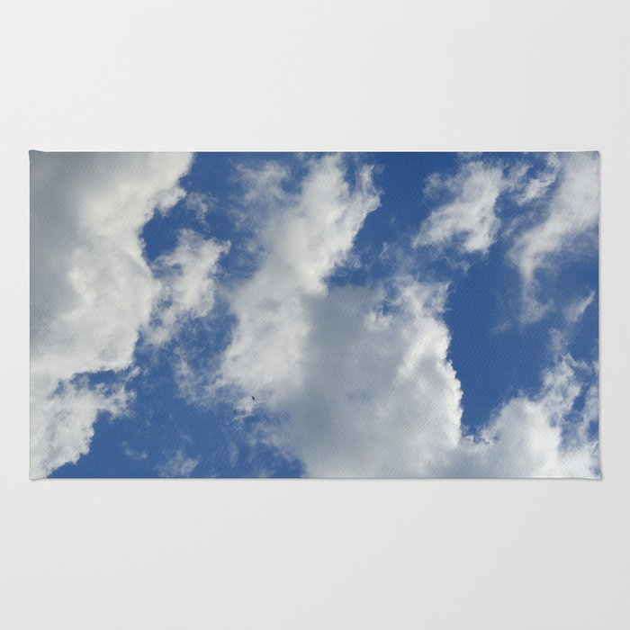 Sunny Cloudy Sky Rug