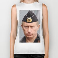 putin Biker Tanks featuring Putin seaman. by Mikhail Zhirnov