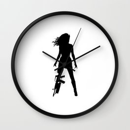 Cherry / Planet Terror Wall Clock