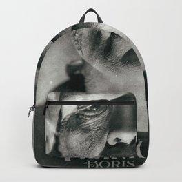 Frankenstein, vintage movie poster, Boris Karloff, horror film, Mary Shelley book cover Backpack
