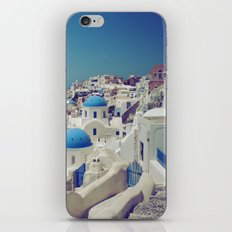 Blue Domes, Oia, Santorini, Greece iPhone & iPod Skin