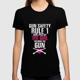 Gun Safety Funny Graphic T-shirt T-shirt