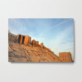 Aleppo Citadel Metal Print