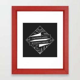 daydreamer nighthinker Framed Art Print