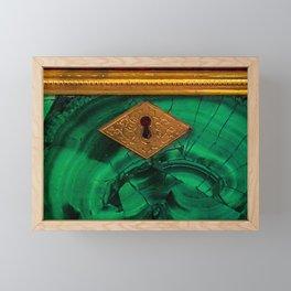 Malachite Box 4 Framed Mini Art Print