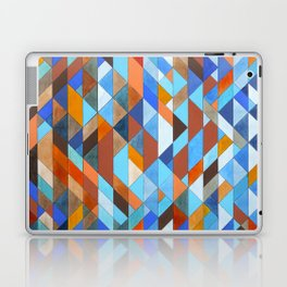 Triangle Pattern no.18 blue and orange Laptop & iPad Skin