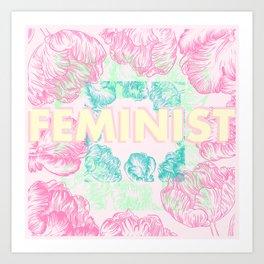 Feminist - Abstract Tulips Art Print