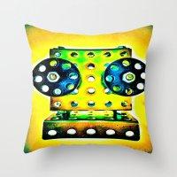 dj Throw Pillows featuring DJ by Yukska