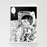 apollonia Stationery Cards featuring asc 333 - La rencontre rapprochée ( The close encounter) by From Apollonia with Love