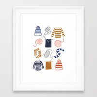 knitting Framed Art Prints featuring Knitting by Holly Dunn Design