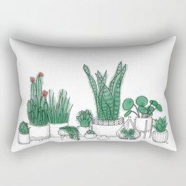 Crazy Plant Lady Rectangular Pillow
