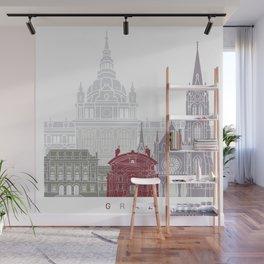 Graz skyline poster Wall Mural