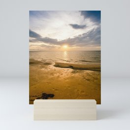 Outer Banks Coastal Beach Sunset Photograph Mini Art Print