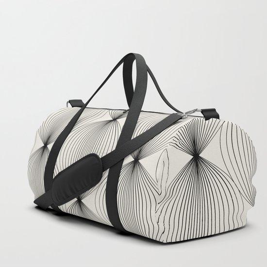 Geometric Orb Pattern - Black by midcenturymodern