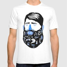 Animal Beard Mens Fitted Tee White MEDIUM