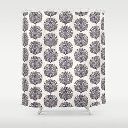 Floral leaf paisley motif persian style Shower Curtain