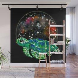 Watercolor Sea Turtle Wall Mural