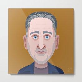 Comics of Comedy: Jon Stewart Metal Print