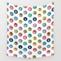 studio ghibli Wall Tapestries featuring Studio Ghibli Flat by TubaTOPAL