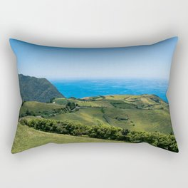 Picture of the swell of the land I | A journey over Sao Miguel, the Azores Rectangular Pillow