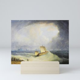 12,000pixel-500dpi - A Deal Lugger Going Off To Storm Bound Ships In The Downs - Thomas Buttersworth Mini Art Print