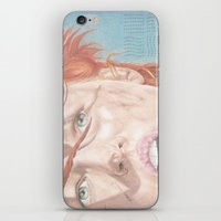 fifth element iPhone & iPod Skins featuring The Fifth Element by JadeJonesArt