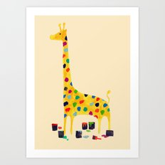 Paint by number giraffe Art Print