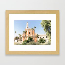 Jaffa's Church , Tel Aviv, Israel Framed Art Print