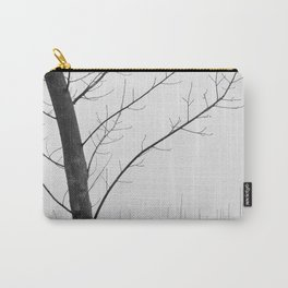Young Ploplars. Bw. Foggy morning Carry-All Pouch