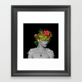 Flower Head Framed Art Print