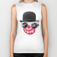clown Biker Tanks featuring Clown by Ahmet Hacıoğlu