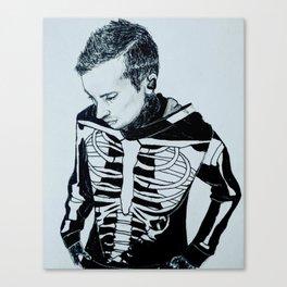 Only Skeleton Bones Remain Canvas Print