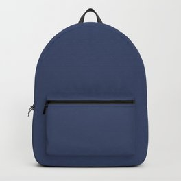Gallant Dark Blue Solid Color Pairs To Sherwin Williams Dignified SW 6538 Backpack