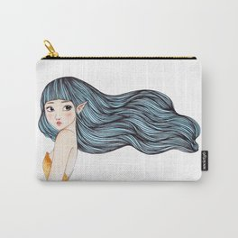 Blue Hair Fairy Carry-All Pouch