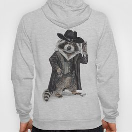 """ Raccoon Bandit "" funny western raccoon Hoody"