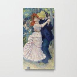 Pierre-Auguste Renoir - Dance at Bougival Metal Print