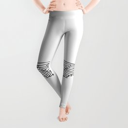 White Wings Outline Leggings