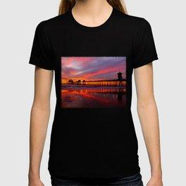Sunset At The Pier * Huntington Beach, California T-shirt