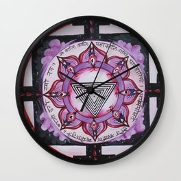 Kali Yantra Wall Clock