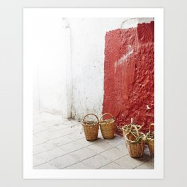 Baskets Art Print