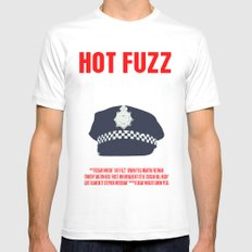 Hot Fuzz Movie Poster White Mens Fitted Tee MEDIUM