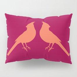 facing cardinals (color) Pillow Sham