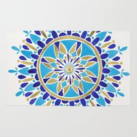 royal Area & Throw Rugs featuring Royal Blue Mandala by Cat Coquillette