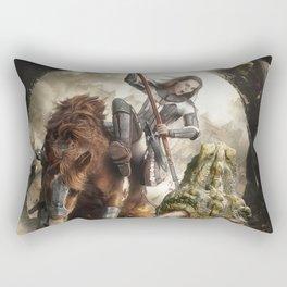 Saint Georgine and the Dragon Rectangular Pillow