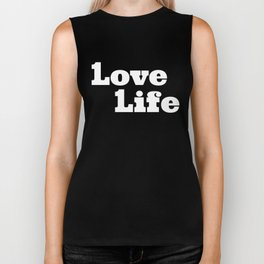 One Love, One Life, Love Life (red) Biker Tank