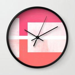Case Study No. 1   Coral + Fuchsia Wall Clock