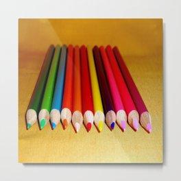 color pencils Metal Print