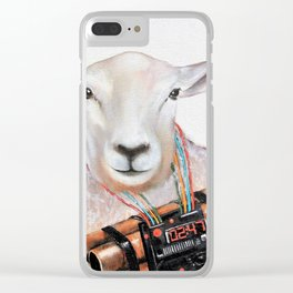 Sheep Fashionista Clear iPhone Case