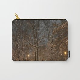 Dog in the Snow Carry-All Pouch