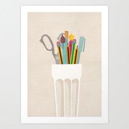 Pencil Pot Art Print